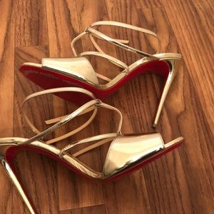 Authentic gold Christian Louboutin Sandal